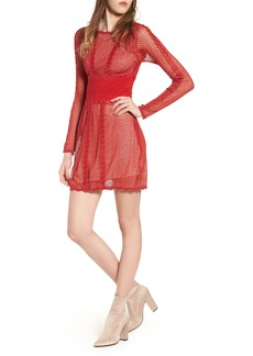 Free People Lace & Mesh Body-Con Dress