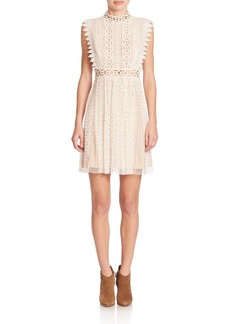 Free People Lace Cutout Halter Dress