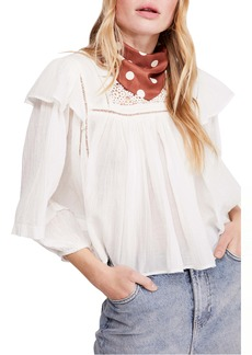 Free People Laura Ruffle Top