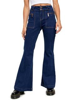 Free People Layla High Waist Flare Jeans (Farrah Blue)