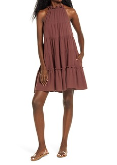 Free People Lera Ruffle Trapeze Dress