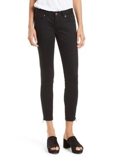 Free People Levon Side Zip Crop Skinny Jeans (Washed Black)