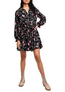 Free People Lighten Up Floral Long Sleeve Minidress