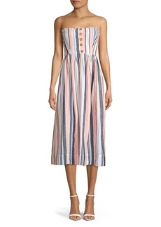Free People Lilah Pleated Tube Midi Dress