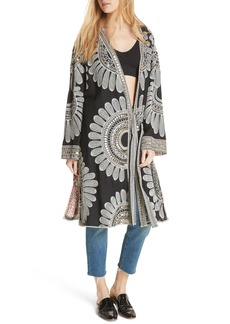 Free People Lisbon Embroidered Duster