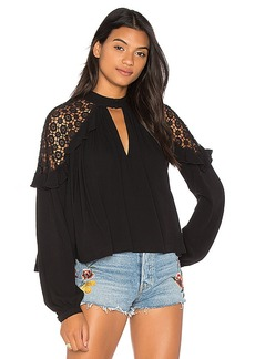 Free People Little Bit Of Love Top in Black. - size L (also in M,S,XS)