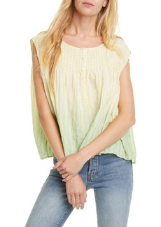 Free People Little Bit of Something Ombré Blouse