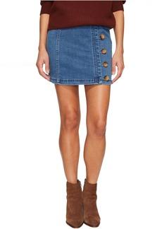 Free People Little Daisies Indigo Mini Skirt