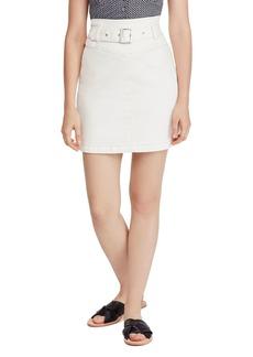 Free People Livin It Up Denim Mini Skirt