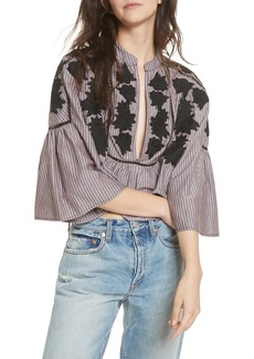 Free People Liya Embroidered Blouse
