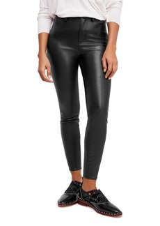 Free People Long & Lean Faux-Leather Pants