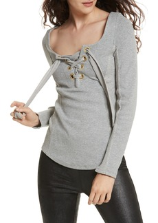 Free People Looking Back Lace-Up Top