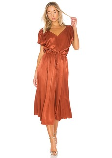 Free People Love and Feeling Midi Dress in Metallic Bronze. - size L (also in M,S,XS)