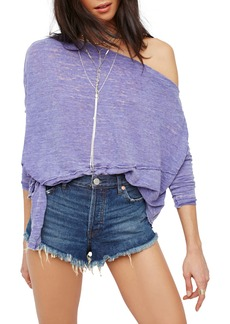 Free People Love Lane Off the Shoulder Tee