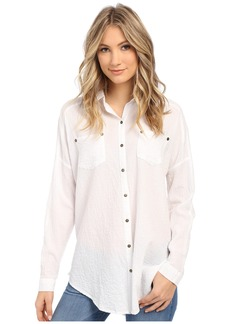 Free People Lover Her Madly Button Down Shirt
