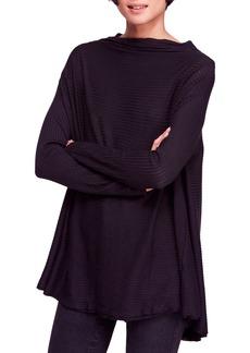 Free People Lover Rib Split Back Pullover