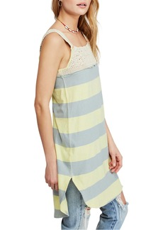 Free People Luca Crochet Stripe Tunic