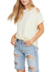 Free People Lucky Distressed Tee
