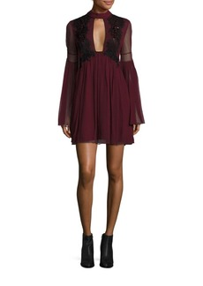 Free People Madly Deeply Sequined Mini Dress