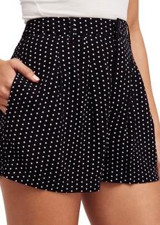 Free People Magdalene Polka Dot Pleated Shorts