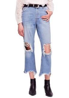 We the Free by Free People Maggie Ripped Crop Straight Leg Jeans