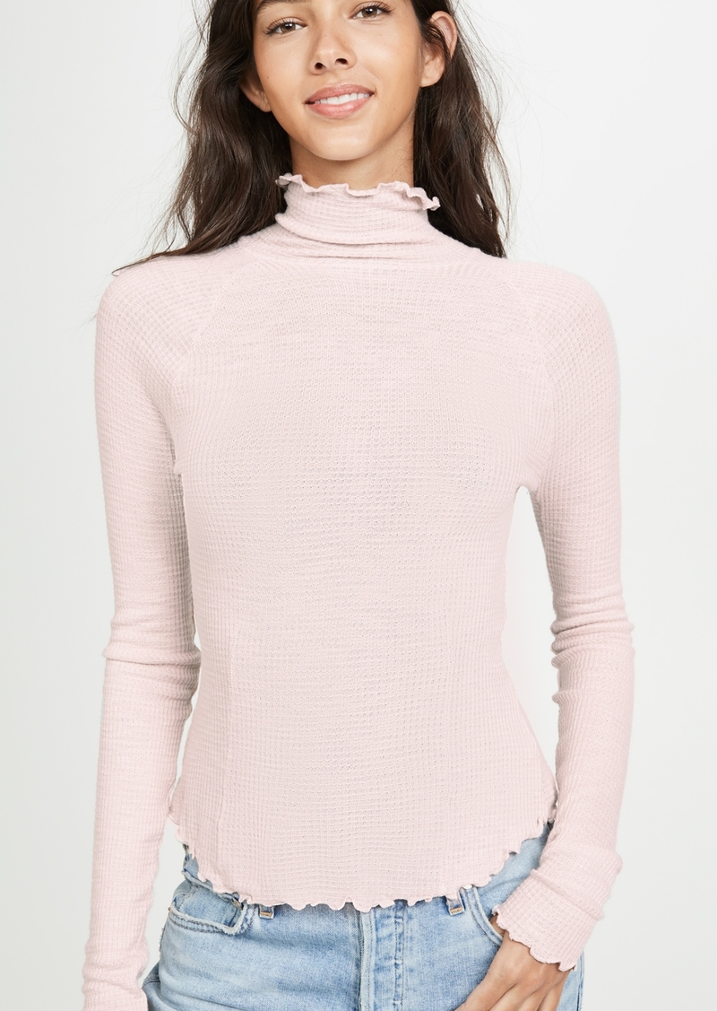 Free People Make It Easy Thermal Long Sleeve Tee