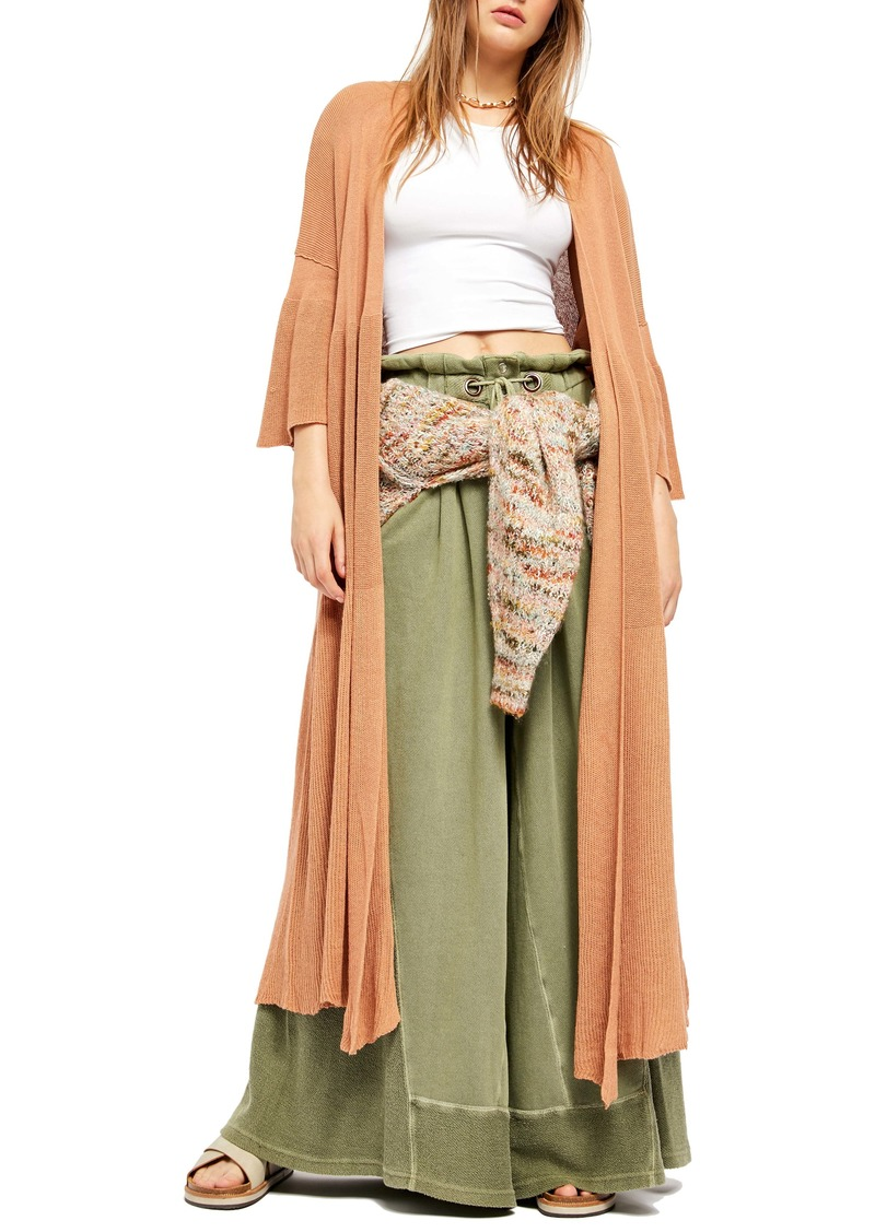 Free People Making Waves Linen & Cotton Duster Cardigan