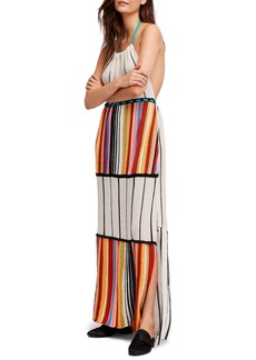 Free People Mardi Gras Halter Maxi Dress
