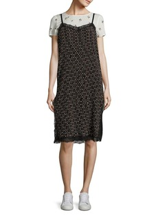 Free People Margot Contrast Print Slip Dress