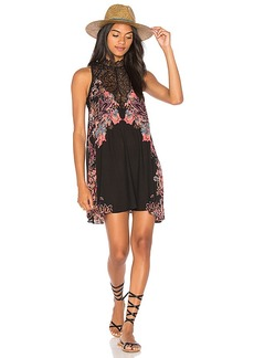 Free People Marsha Printed Slip in Black. - size L (also in M,S,XS)
