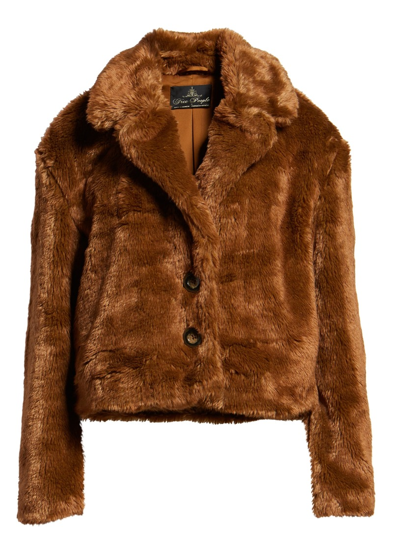eca4cb125 Free People Free People Mena Faux Fur Jacket | Outerwear