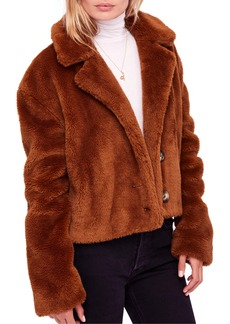 Free People Mena Faux Fur Jacket