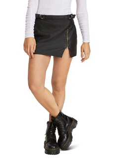 Free People Midnight Magic Faux Leather Mini Skirt
