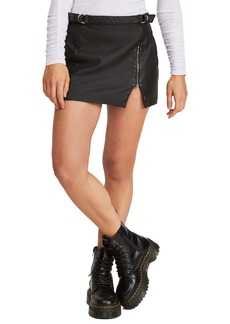 Free People Midnight Magic Faux Leather Miniskirt