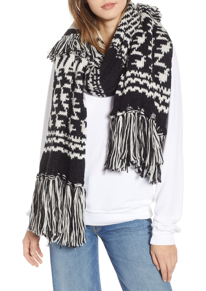 Free People Mile High Fleece Fringe Scarf
