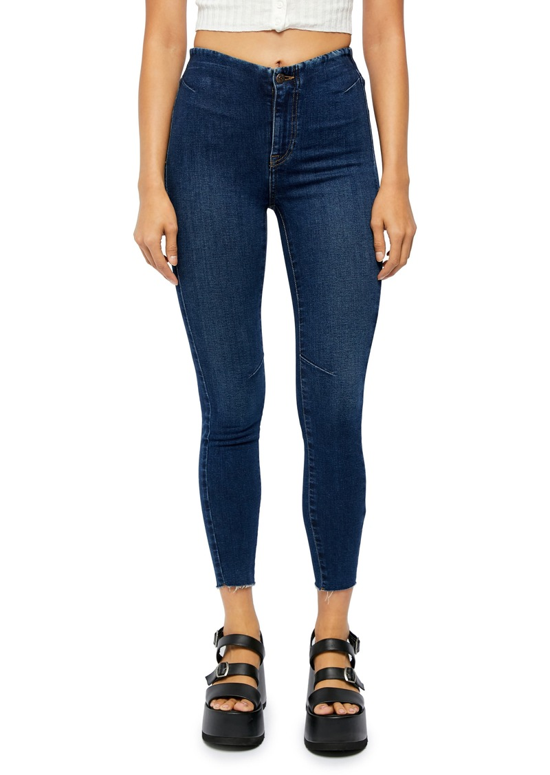 Free People Miles Away High Waist Crop Skinny Jeans