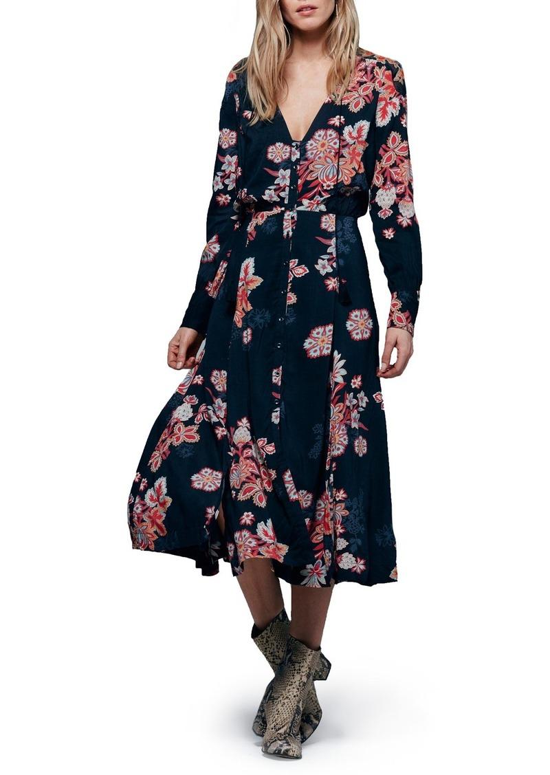 Free People 'Miranda' Floral Print Midi Dress