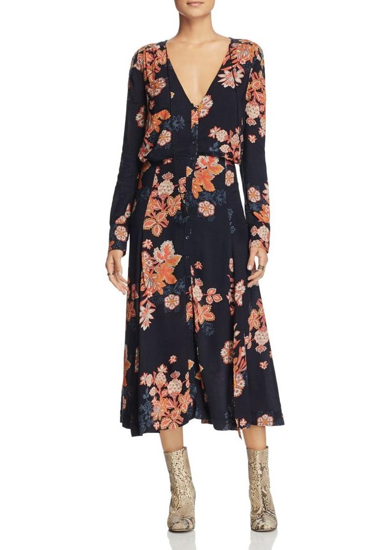 e9622ff1b5b Free People Free People Miranda Printed Midi Dress
