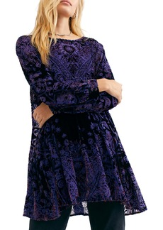 Free People Mirror, Mirror Long Sleeve Velvet Minidress