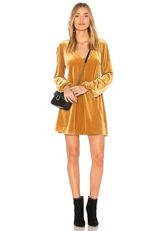 Free People Misha Mini Dress in Yellow. - size L (also in M,S,XS)