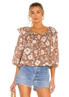 Free People Miss Daisy Printed Top