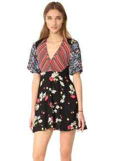 Free People Mix It Up Printed Mini Dress