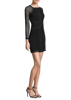 Mixed Mesh Bodycon Dress