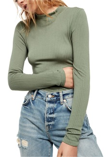 Free People Mock Neck Top