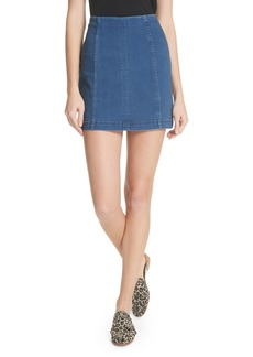 We the Free by Free People Modern Denim Miniskirt (Denim Blue)