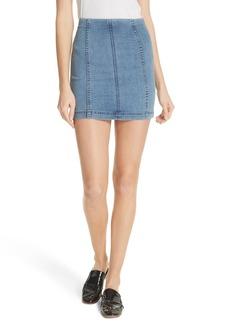 We the Free by Free People Modern Denim Miniskirt (Denim Blue)