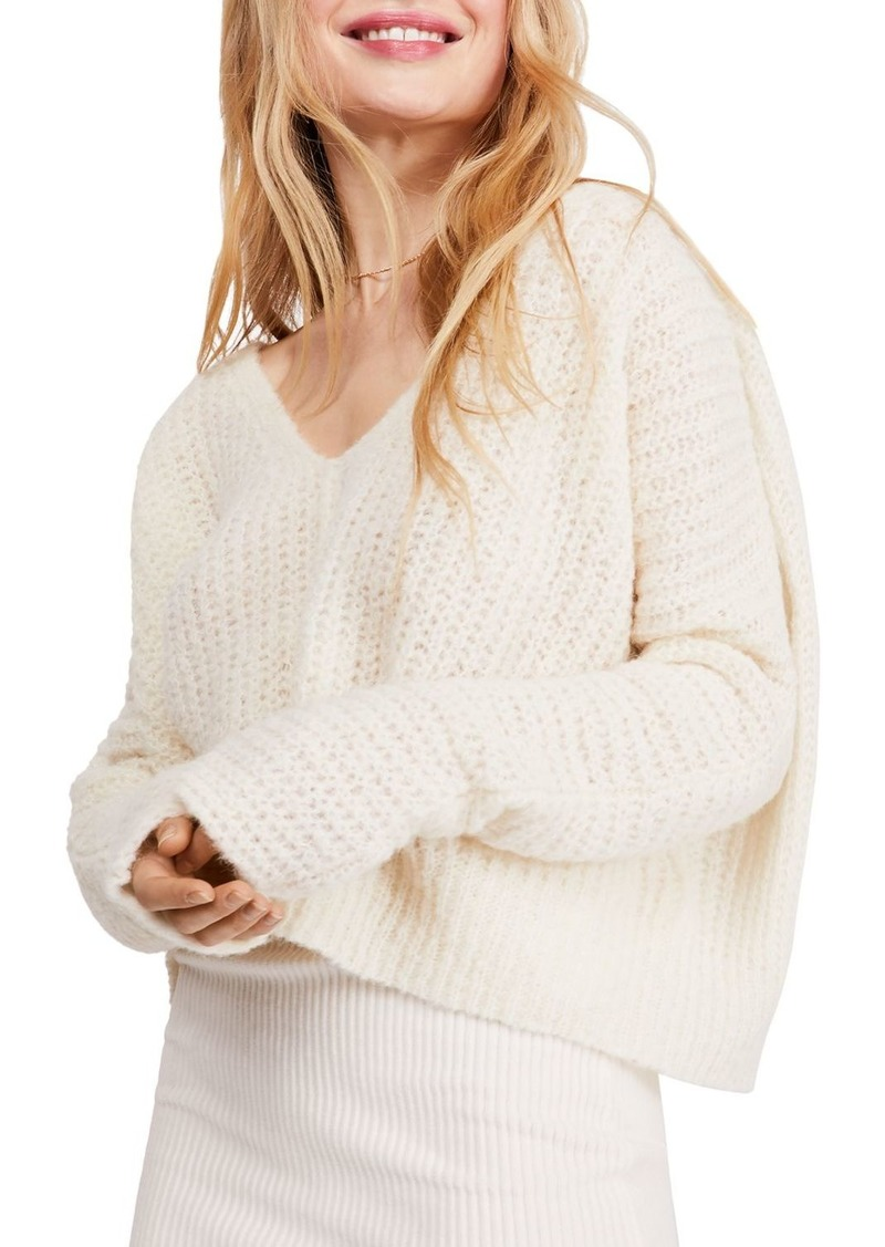 Free People Moonbeam Cropped Sweater