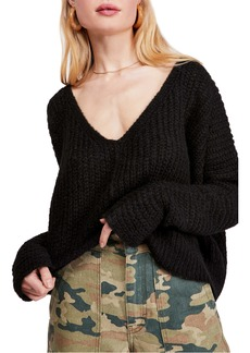 Free People Moonbeam V-Neck Sweater
