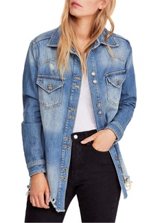 Free People Moonchild Oversize Shirt Jacket