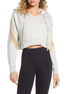 Free People Movement Cropped In The Net Hooded Sweatshirt